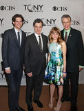 Alex Timbers, Roger Rees, Celia Keenan-Bolger, et Rick Elice Image stock