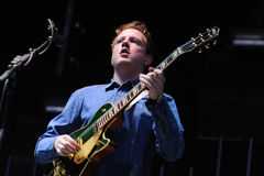 Alex Trimble, lead vocals, guitar, beats synths of Two Door Cinema Club Royalty Free Stock Images