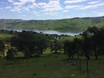 Alex Vardy's farm. Alex Vardy's farm in New Tallangatta, Victoria Stock Photo