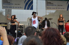 Alex Velea no concerto Fotografia de Stock Royalty Free