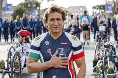 Alex Zanardi, ποδήλατα χεριών δειγμάτων Στοκ Φωτογραφίες
