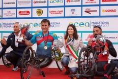 Alex Zanardi 23 ^ Rzym maraton Fotografia Stock
