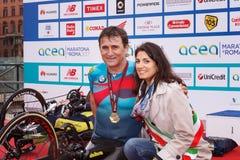 Alex Zanardi 23 ^ Rzym maraton Zdjęcia Stock