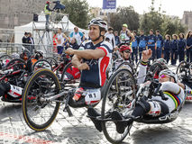 Alex Zanardi, sample hand bikes Royalty Free Stock Photo