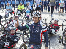 Alex Zanardi, sample hand bikes Royalty Free Stock Image