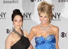 Alexa-Ray Joel and Christie Brinkley. Singer, songwriter, and musician Alexa Ray Joel is joined by her mother, model Christie Brinkley, dressed in a stunning Stock Images