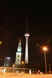 Alexander. Platz and church at night Royalty Free Stock Photography