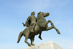 Alexander. The Great, Thessaloniki, Greece royalty free stock image