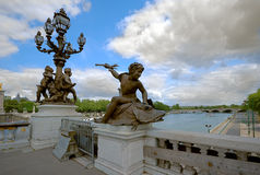 Alexander 3-rd bridge.Paris Stock Photography
