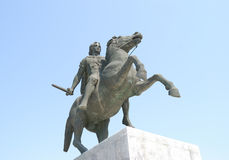 Alexander. Statue of Alexander the Great in Thessaloniki - Greece royalty free stock image