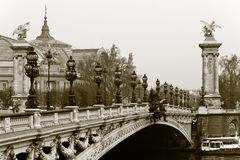alexander bridżowy France iii Paris Obraz Stock