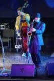 Alexander Brill spelar saxofonen Fotografering för Bildbyråer