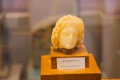 Alexander Bust av den Greco- romaren på det egyptiska museet Arkivbilder