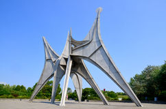 The Alexander Calder sculpture stock image