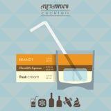 Alexander cocktail flat style  illustration Stock Photo