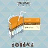 Alexander cocktail isometric illustration Stock Photography