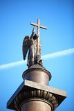Alexander Column with angel Royalty Free Stock Photos