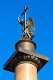 Alexander Column. Angel. Royalty Free Stock Photo