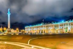 Alexander Column e palazzo di inverno a St Petersburg, Russia Immagine Stock Libera da Diritti
