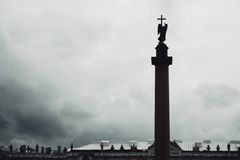 Alexander Column, is the focal point of Palace Square Royalty Free Stock Image
