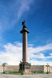 Alexander Column on Palace Square Stock Photography