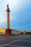 Alexander Column in the Palace Square Stock Image