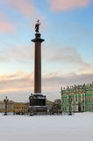 Alexander column on Palace square, St. Petersburg, Russia Royalty Free Stock Image