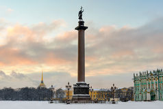 Alexander column on Palace square, St. Petersburg, Russia Stock Photography