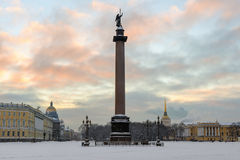 Alexander column on Palace square, St. Petersburg, Russia Royalty Free Stock Photography