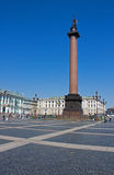 Alexander Column, Saint Petersburg. Alexander Column in the Palace Square, Saint Petersburg Royalty Free Stock Image