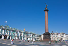 Palace Square, Saint Petersburg. Alexander Column in the Palace Square, Saint Petersburg Royalty Free Stock Photos