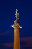 Alexander Column on the Palace Square in Saint Petersburg at nig Stock Images
