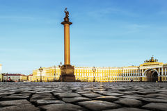 The Alexander column on Palace Square Stock Images