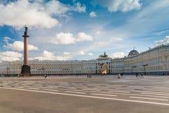 Alexander Column on Palace Square Stock Photo