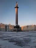 Alexander Column, Palace Square, St. Petersburg Stock Photos