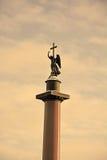 Alexander column on Palace square, St.Petersburg Stock Photo