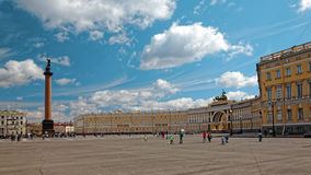 Alexander Column. Palace Square in St. Petersburg, Russia. Stock Photo