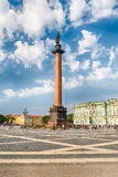 Alexander Column  in Palace Square, St. Petersburg, Russia Royalty Free Stock Photo