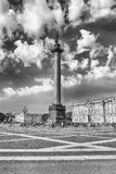 Alexander Column  in Palace Square, St. Petersburg, Russia Royalty Free Stock Images
