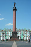 Alexander column, Palace Square and Winter Palace Royalty Free Stock Images