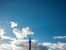 Alexander column. Russia, St. Petersburg. Royalty Free Stock Images