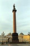 Alexander column in Saint-Petersburg, Russia. Stock Photography