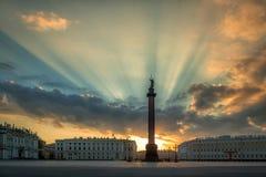 Alexander Column St Petersburg Fotografering för Bildbyråer