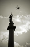 Alexander column in St Petersburg, Russia Royalty Free Stock Images