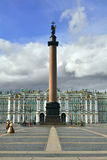 Alexander Column and Winter Palace, St.Petersburg. The central square in the heart of Saint-Petersburg: Alexander Post in front of the Winter Palace, Hermitage Royalty Free Stock Image