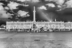 Alexander Column and Winter Palace in St. Petersburg, Russia Royalty Free Stock Photo