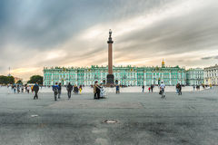 Alexander Column and Winter Palace in St. Petersburg, Russia Stock Photography