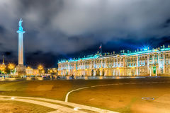 Alexander Column and Winter Palace in St. Petersburg, Russia Royalty Free Stock Image