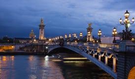 Alexander den tredje bron, Paris Arkivbilder