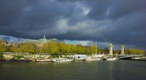 Alexander den tredje bron, Paris Arkivfoton
